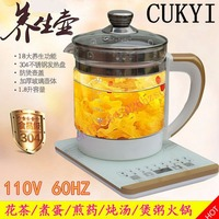 110V 220v Health Pot Multifunctional Electric Boiler Cooking Pot Fully Automatic Thickened Glass Electric Heating Kettle