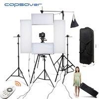 Capsaver 4 в 1 комплект светодиодный видео студийное освещение для фотографии лампа для фотосъемки светодиодный свет Панель 5500 K CRI95 Беспроводно