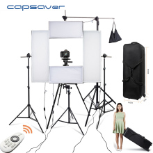 capsaver 4 in 1 Headshot Lighting Kit LED Photographic Lighting Photo Studio Dimmable 5500K CRI95 2.4G Wireless Remote control