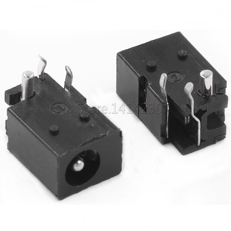 10Pcs DC-023 4.0mm X 1.7mm Black DC Power Jack Socket Connector DC023 4.0*1.7mm 4.0x1.7 1.7mm Needle DC Female Jack