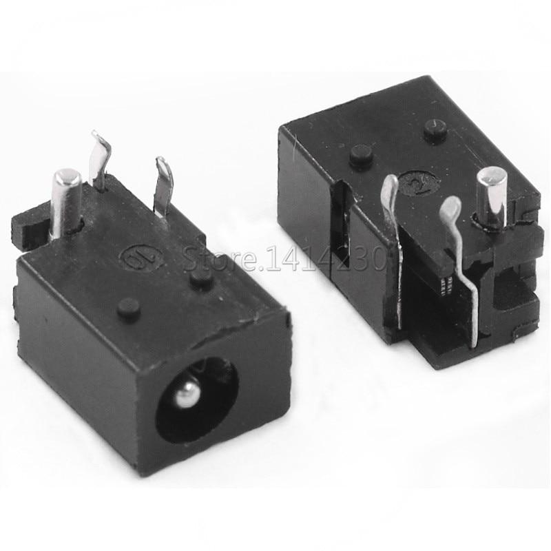 10Pcs DC-023 4.0mm X 1.7mm Black DC Power Jack Socket Connector DC023 4.0*1.7mm 4.0x1.7 1.7mm Needle DC Female Jack