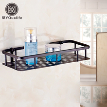 Free Shipping Wholesale and Retail Wall Mount Bathroom Storage Display Rack Oil Rubbed Bronze Shower Caddy Basket