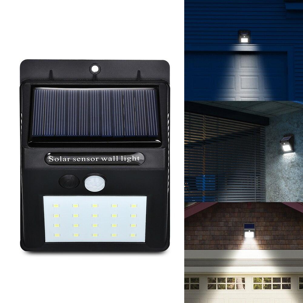 20 LEDs Solar Motion Sensor Wall Light IP65 Waterproof for Outdoors Garden Patio Yard Garage
