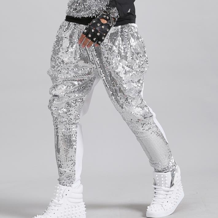 Skatuves modes personība vīrieši harēms bikses motocikla sequins - Vīriešu apģērbi
