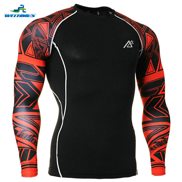 CPD-B33 Spain Men's Football Jersey Male Compression Shirts Black Red Sides Authentic Long Soccer Tops Cheap Fitness Base Layers