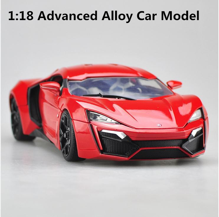 JADA 1:18 advanced alloy car model, high simulation lykan, Fast & Furious,high quality collection model, free shipping jada