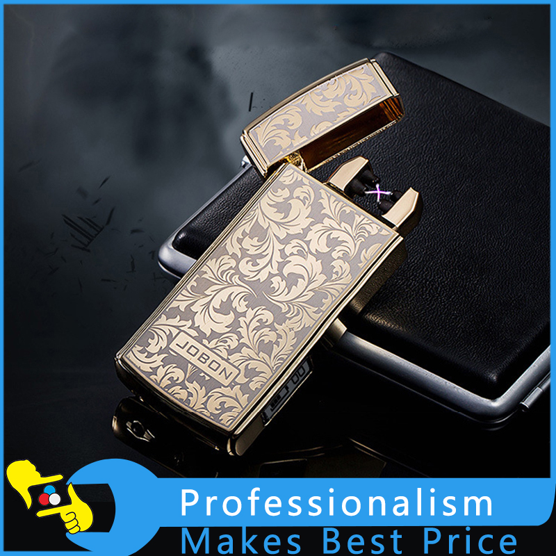 Electronic Cigarette Lighter Dual Arc Electric USB Lighter Rechargeable Cross Ligthers Metal Smoking Windproof Lighters