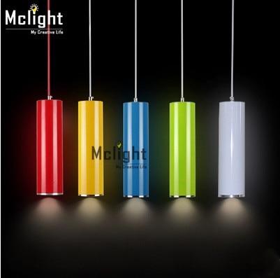 Modern And Simple Tube Shade Pendant Light Single Head Dia.6CM For Bar Restaurant simple cm 379