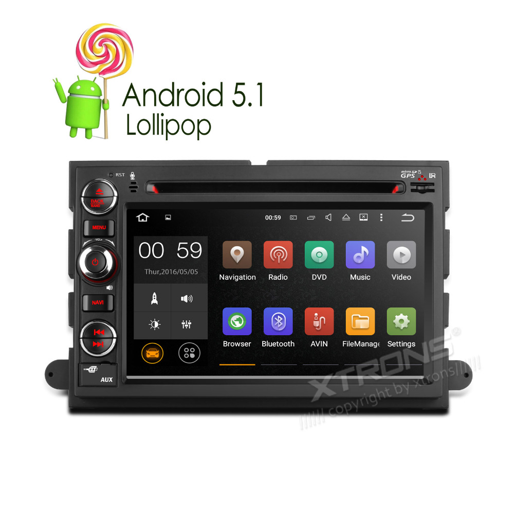 8 Core Android Car GPS DVD Radio For Ford F150 Edge Explorer Mustang Expedit RDS