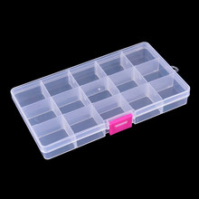 Gmarty 17.4*3.9*2.2 cm 15 Compartimenti Impermeabile Fishing Lure Bait Hooks Tackle Storage Box Caso(China)