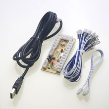 Wholesale Zero Delay Arcade USB Encoder PC to Joystick For MAME & Raspberry Pi Retropie 1 / 2 / 3B Projects (Happ Buttons , 2Pin – 4.8mm)