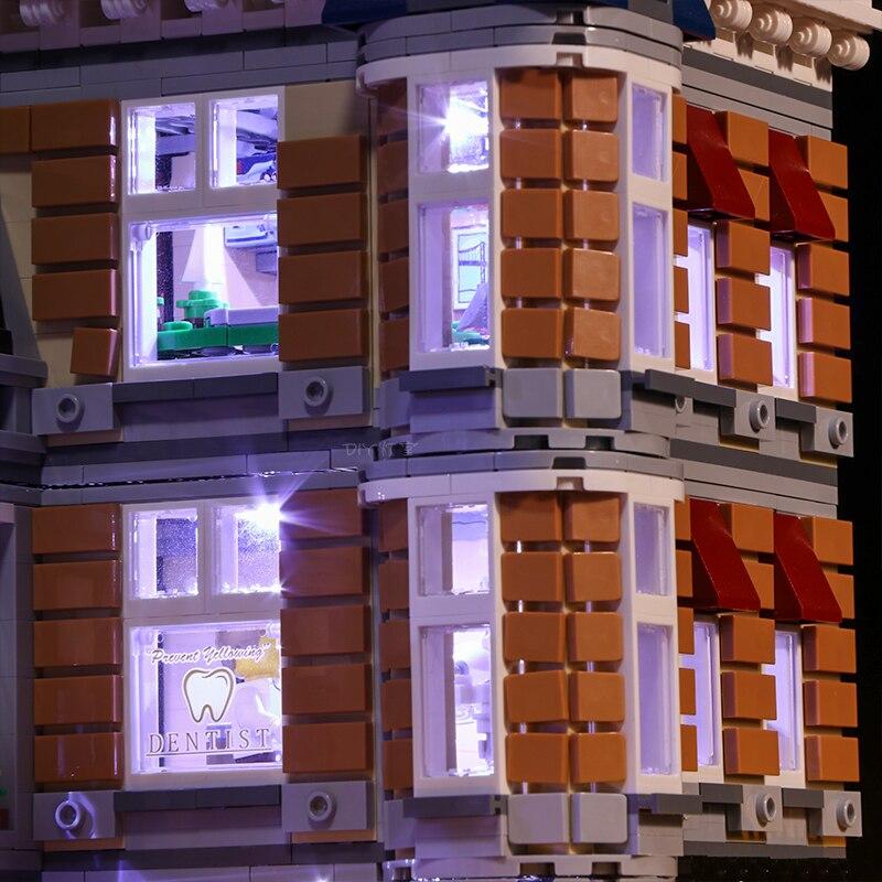 Lego 10255 Led Light Set City Street Assembly Square Toys brickkits(light with Battery box)