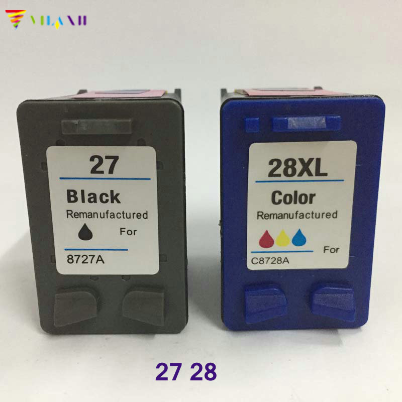 Výměna inkoustových kazet kompatibilních s tiskárnou Vilaxh pro HP 27 28 xl DeskJet 3320 3323 3325 3420 3425 3550 3650 OfficeJet 4315v PSC 1315