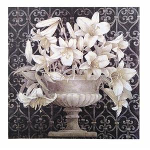 Image 3 - 20 Vintage table Napkin paper decoupage wedding christmas birthday party  flower white balck serviettes  decorative tissue