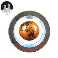 Led Illuminated Anti gravity Decorative Magnetic Levitation 4 Inch Desktop Home Gift Floating Globe Earth Office Auto Rotating