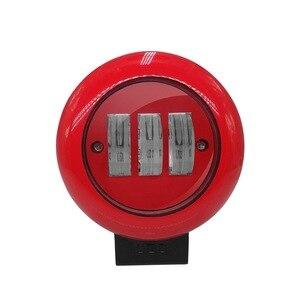 Image 2 - Projecteur rond rouge de tache de lumière de travail de 1 pièces 30W pour le camion tout terrain tracteur SUV conduisant la lampe 4000lm Flux 6000K lumière ronde rouge de travail
