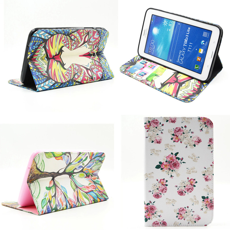 BF-Cartoon case for samsung galaxy tab 3 lite 7.0 SM-T110 T111 7 tablet cover case for samsung t113 t116