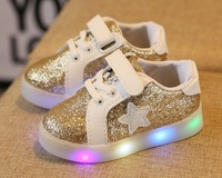 Baby Shoes LED Luminous Shoes For Boys Girls Fashion Children LED Light Sneakers 3 Colors Kids