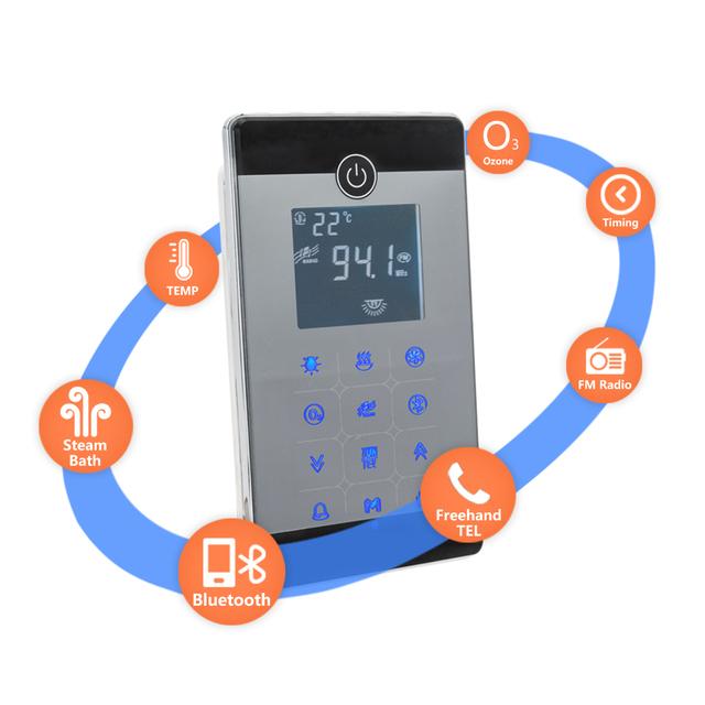 Bluetooth FM radio LCD Controller  6KW/ AC240V Sauna Steam Bath Generator Bathroom Shower Steam Ozone With Oil Fragrance Nozzle