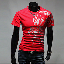 купить MYTL New 2015 Casual Brand 5style T Shirts Men Novelty Dragon Printing Tattoo Male O-Neck T Shirts M L XL XXL XXXL дешево