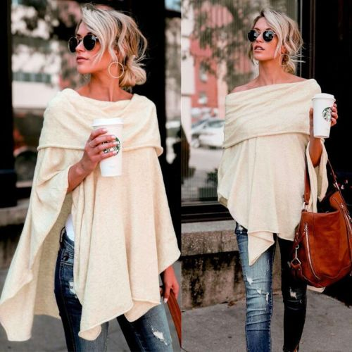 2018 Sexy Women Gauffer Boat Neck Off Shoulder Loose   Blouse   Bat Sleeve Casual   Shirts