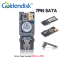 Gd serie industrial 8 gb goldendisk 7pin sata dom disk on módulo MLC NAND MLC Doble Canal Vertical para Incrustado Paneles Flash