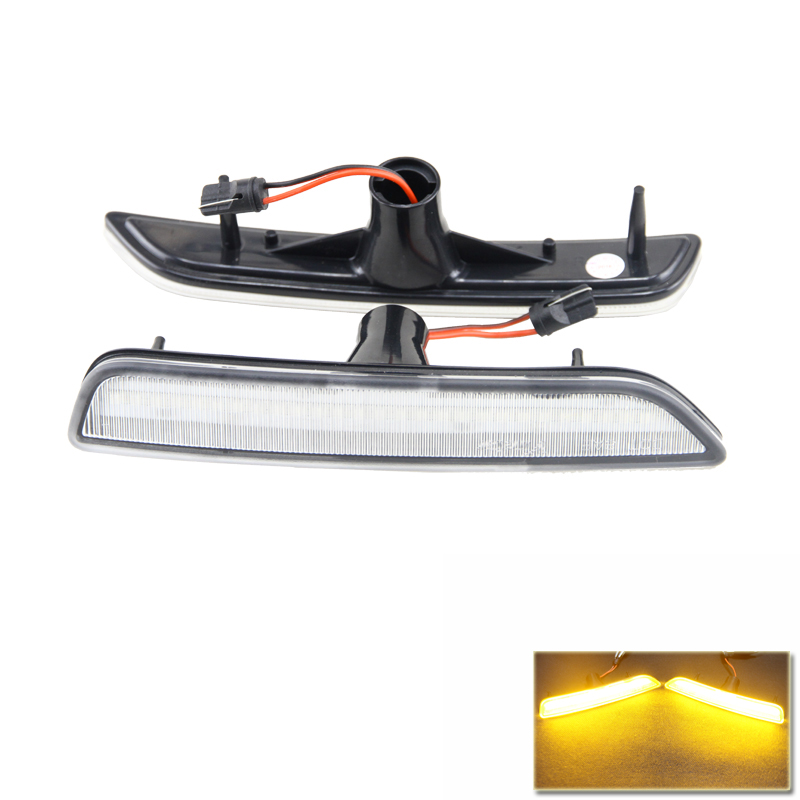 Car Styling For Ford Mustang 10-14 Auto Car Front Side Marker Lights Amber Led External Light Lamp Plug&Play DC 12V