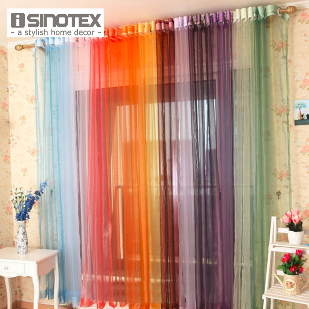 1 pcs lot voile solid window curtain tulle fabric curtains for Space curtain fabric