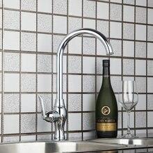 Новый бренд высокий кухня torneira новый Chrome 92434/1 бассейна Раковина Одной ручкой бортике водопроводной воды смесители судна, смеситель