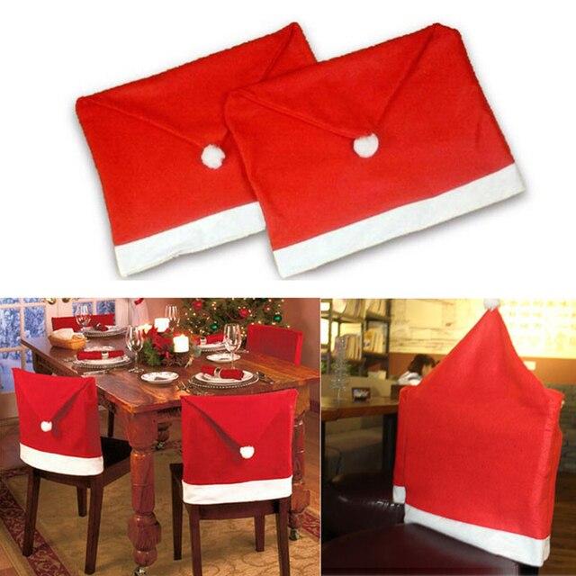 2 unids/lote decoración de la navidad cubiertas de la silla del ...