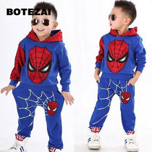 2017 Spiderman Bébé Garçons Vêtements ensembles Sport costume De Noël garçons Vêtements Automne hiver spider man cosplay vêtements