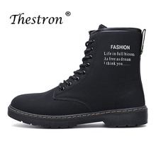 цена на 2018 New Cool Winter Men Shoes Black Red Casual Boots Male Comfortable Young Boy Casual Shoes Rubber Sole Mens Fashion Boots