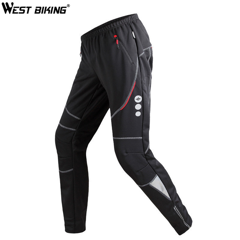 WEST BIKING Winter Sports Pants Ropa Ciclismo Windproof Thermal Pantalones Running MTB Riding Bike Bicycle Cycling Pants Men santic mens windproof outdoor sports bike bicycle running fitness ciclismo pants winproof sports trousers clothing m 3xl