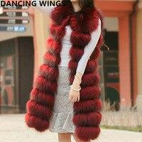 New Fashion Long Real Raccoon Fur Vest Sleeveless Real Fur Jacket Women's Natural Raccoon Fur Waistcoat Gilet