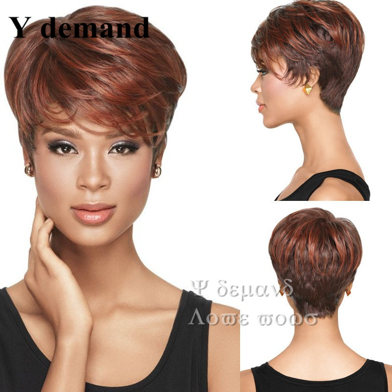 1pc Natural Wig African American Short Hairstyles Wigs For Black