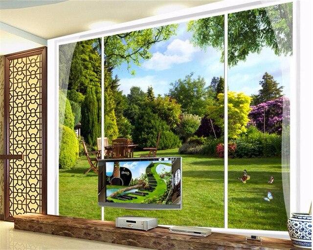Online Shop Beibehang Custom 3d Wallpaper Windows Outdoor Garden