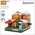 Ideas loz mini bloques de pizza pizzeria shop restaurante occidental panadería edificio modelo de street view tienda toy asamblea kids house 1409