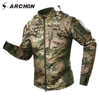 S.ARCHON Tactical Bomber Men Jacket Military Thicken Warm Army Windbreaker Fleece Camouflage Jacket Down Clothes Male Coats