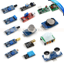 Best Buy 16pcs/lot Raspberry Pi 3 Model B the Sensor Module Package 16 kinds of Sensor with Retail Box