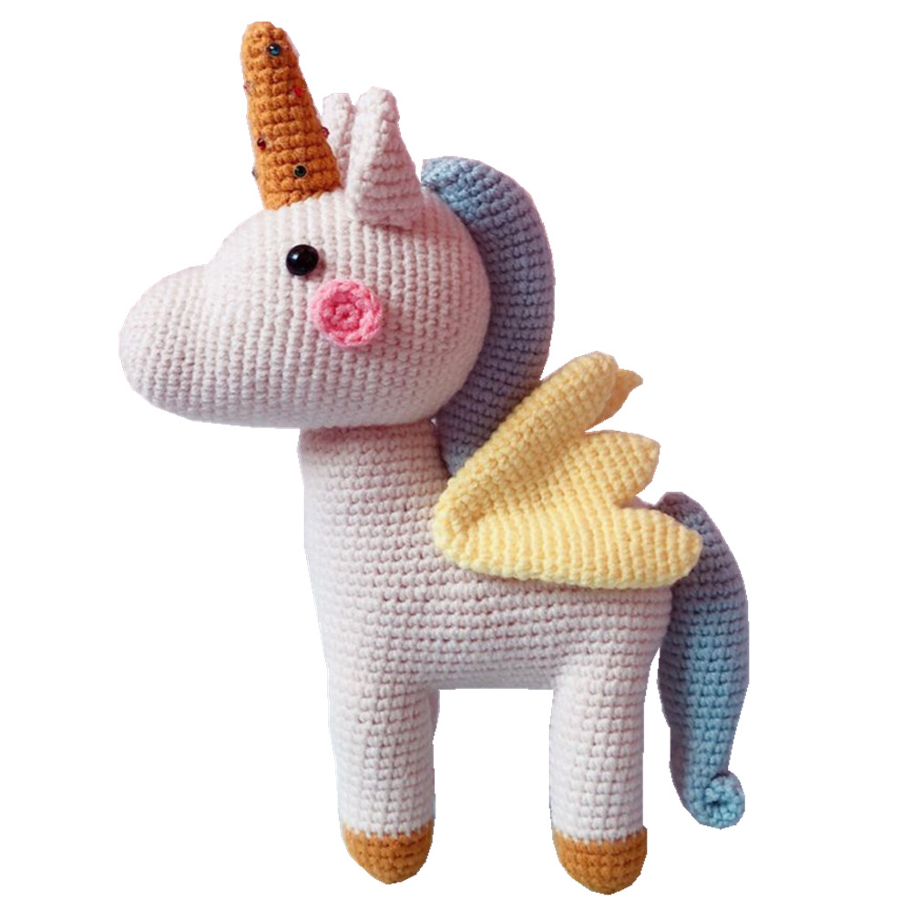 25cm Boutique Handmade Unicorn Knitted Doll Christmas Gift Birthday Gift Children Girl Gift Baby Sleep Doll