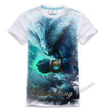 DOTA 2 Morphling T-shirt Mens 100% Cotton White and Blue 3xl Tees