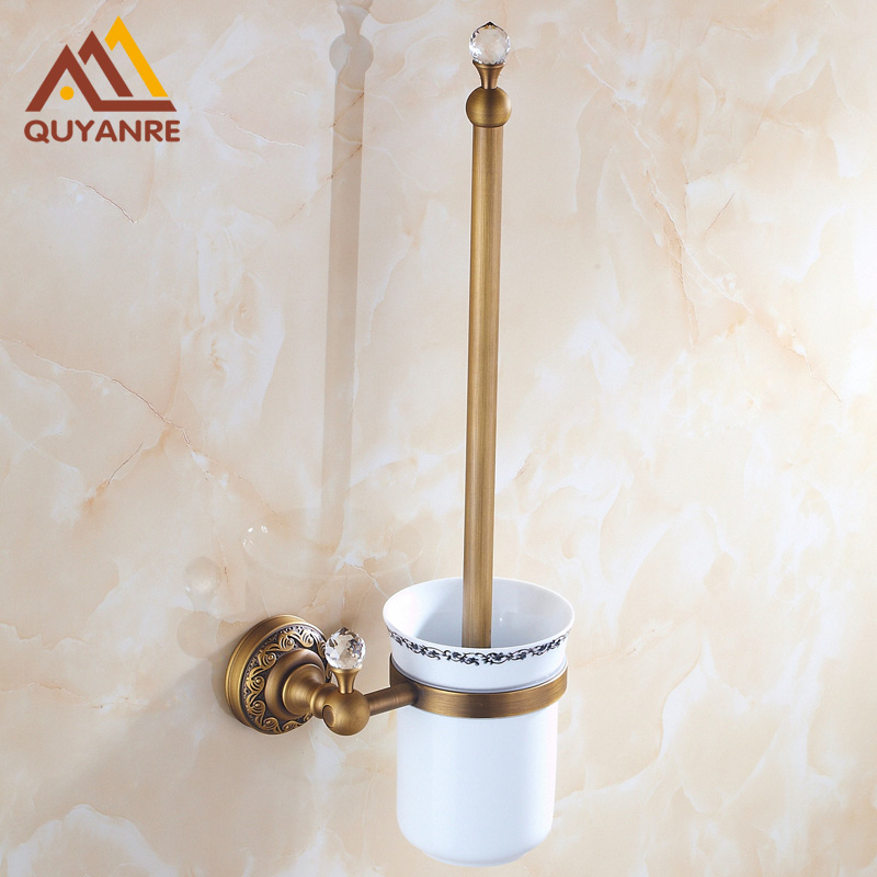Free Shipping Antique Brass New Modern Bathroom Toilet Brushed Holder Wall Mounted free shipping ba9105 bathroom accessories brass black bronze toilet paper holder