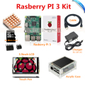 Raspberry Pi 3 Model B Board+ 3.5 TFT LCD+8GB TF Card +2.5A Power Supply (EU OR US)+Acrylic Case+ Heatsinks+HDMI Cable