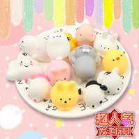 100 Pcs Cute Mini Silicone Soft Squishy Cat Toy Strokes Squeeze Hand Pinch Phone Accessories Mobile