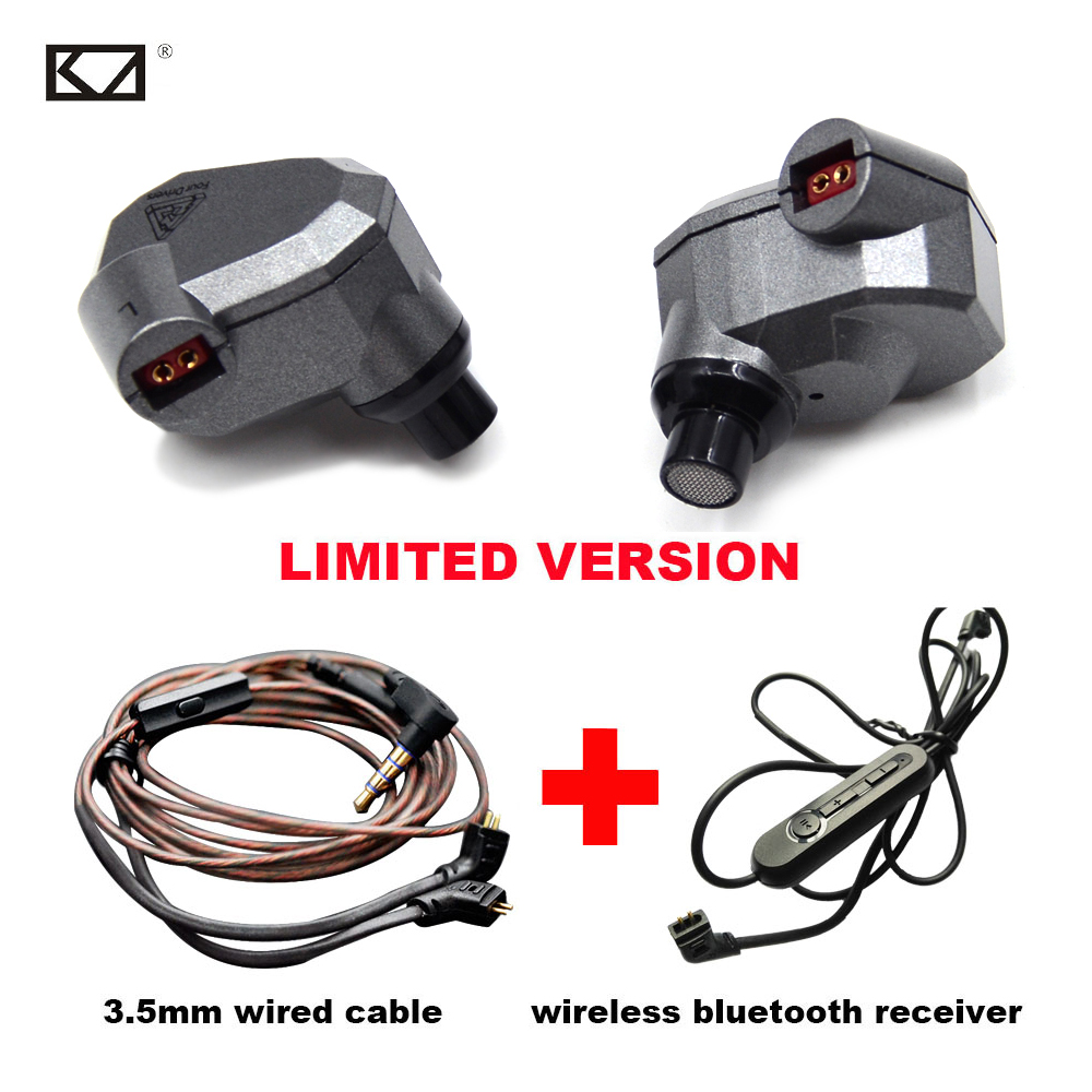 KZ ZS5 2DD+2BA Stereo Earphone With Bluetooth Receiver Hybrid Bluetooth Headphone Bass Earbuds HiFi DJ Monitor Sport Music