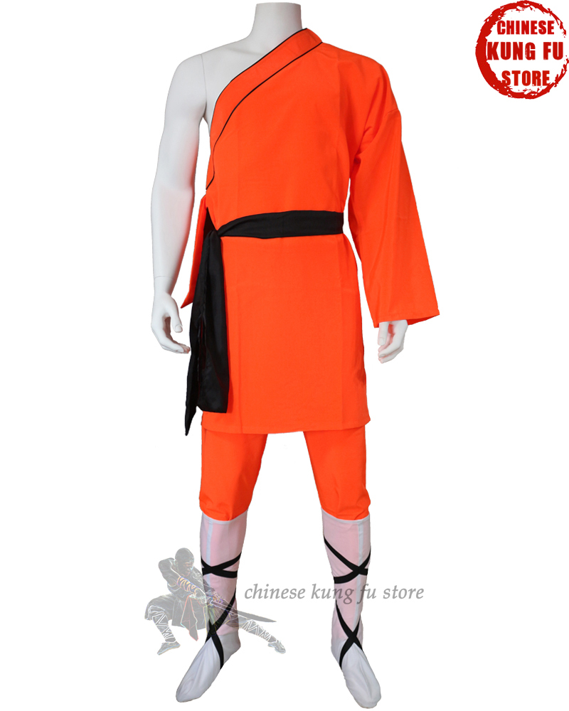 Classic One-sleeve Shaolin Monk Daily Training Suit Martial Arts Wushu Tai Chi Morning Training Sports Uniforms