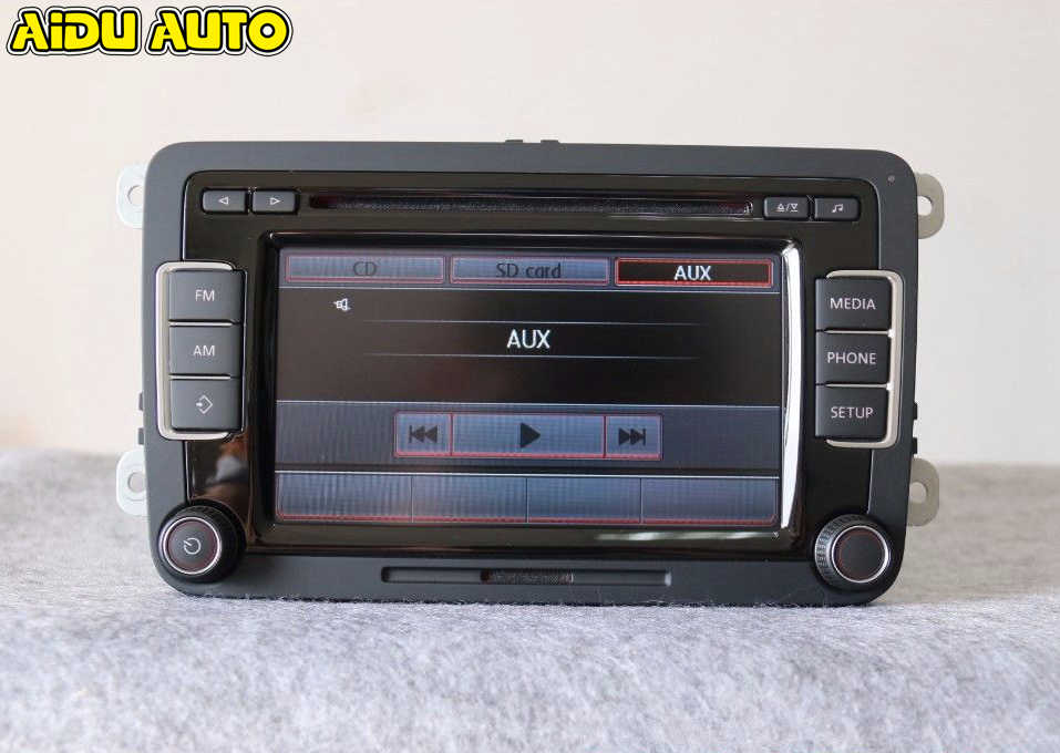 AIDUAUTO Car Radio EU Stereo RCD510 5K0035190B 5K0 035 190 B WITH CODE