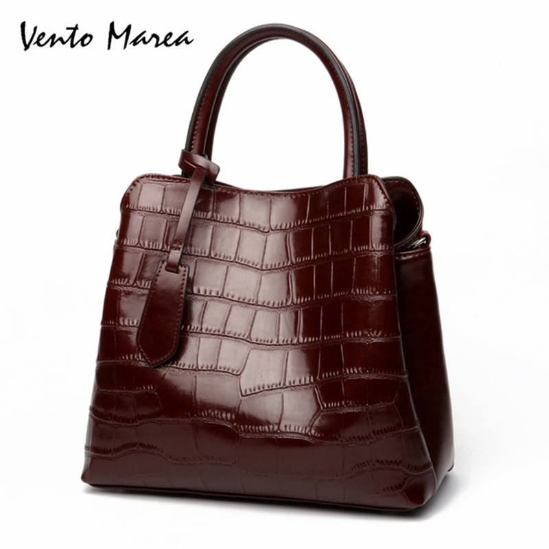 Vento Marea Plaid Style Women Handbags Shoulder Bag Bolsos Mujer Women Cowhide Tote Crossbody Bags Carteras Y Bolsos De Mujer цены