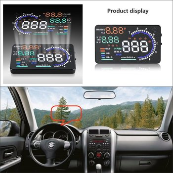 Car Information Projector Screen For Suzuki Grand Vitara / Swift - Safe Driving Refkecting Windshield HUD Head Up Display image