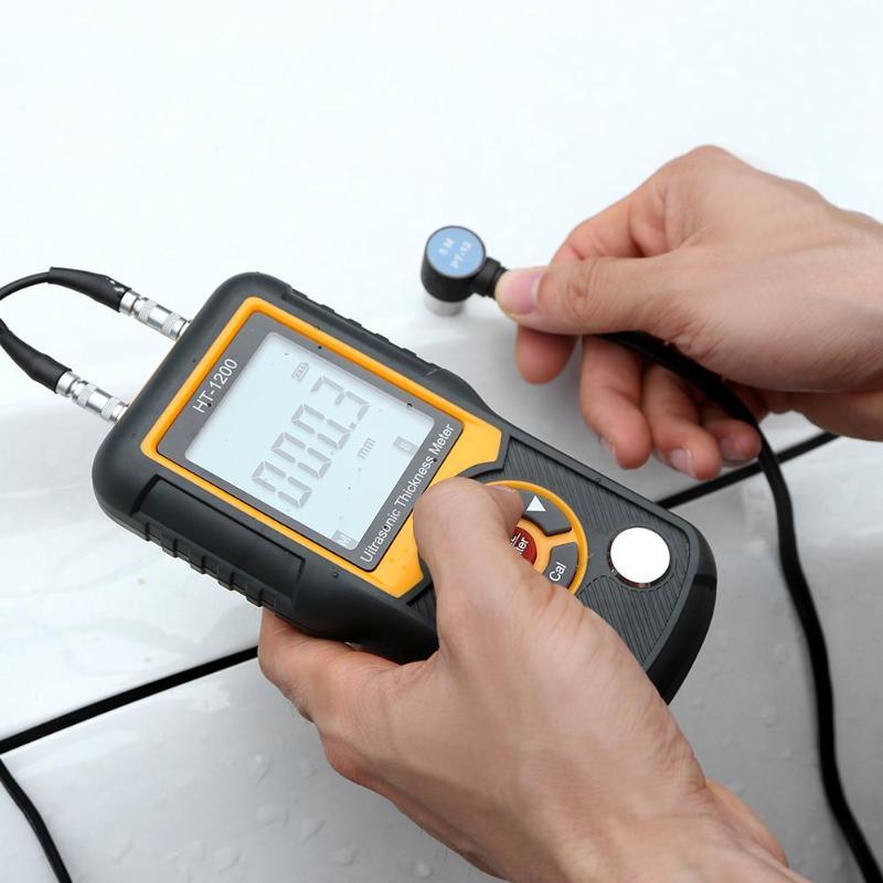 Цифровой ЖК-дисплей ультразвуковой Толщина Калибр метр HT-1200 Высокая точность Сталь Толщина тестер 1,2-225 мм 0,1 мм Разрешение Diagnosti